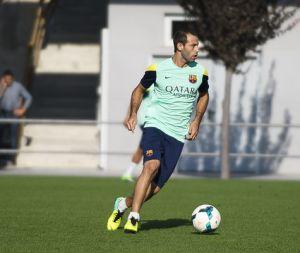 Javier Mascherano dołączył do drużyny na treningu