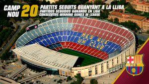20 zwycięstw pod rząd na Camp Nou w lidze