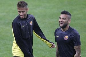 Alves: Neymar jest gotowy by zastąpić Messiego