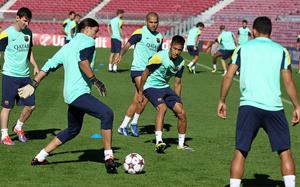 Ostatni trening przed meczem z AC Milanem