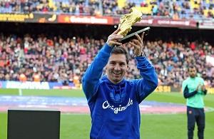 Messi zaprezentował Złotego Buta