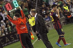 Messi opuścił boisko po 20 minutach