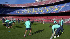 Ostatni trening przed meczem z Villarreal