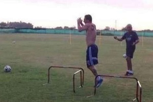 Messi trenuje niezależnie od pogody