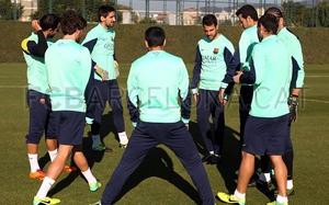 Trening z graczami Barcelony B