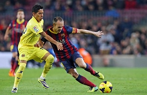 Iniesta i Bartra po meczu