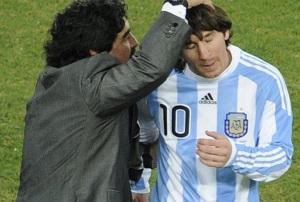Maradona także broni Messiego