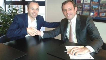 Iniesta podpisał kontrakt do 2018 roku!