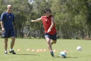 """Messi trenuje na boisku """"talizmanie"""""""