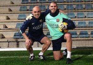 Víctor Valdés trenuje w święta