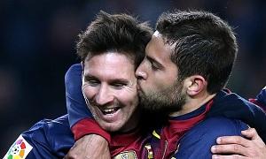 "Messi i Alba w Jedenastce l""Equipe"