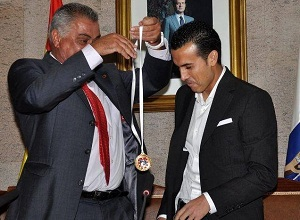 Pedro odebrał medal za zasługi sportowe