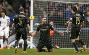 Manchester City wygrywa ze Swansea