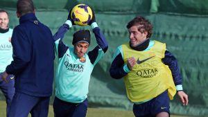 Neymar and Sergi Roberto