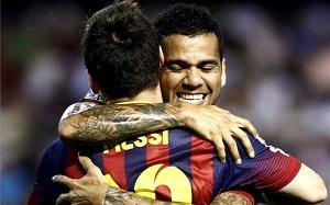 Alves: Messi jest najlepszy, bez względu na to, czy wygra Złotą Piłkę
