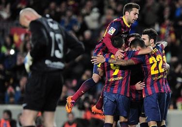 Fotel lidera odzyskany: FC Barcelona – Málaga (3:0)