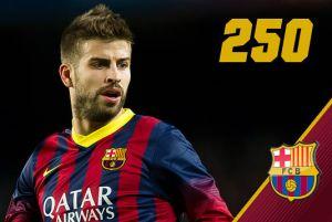 Piqué bliski 250. występu dla FC Barcelony