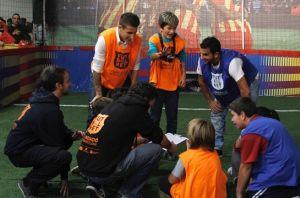 Tello i Montoya odwiedzili Fundację FCB