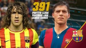 Carles Puyol zrównał się z Miguelim