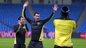 Trening na Etihad Stadium
