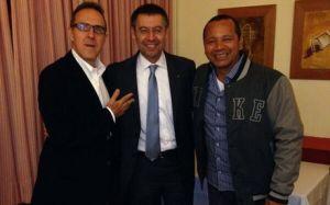 Bartomeu na obiedzie z ojcem i agentem Neymara