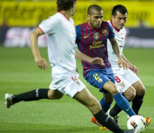 Alves nie przegrał z Barçą w Sewilli