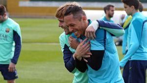Trening z piłkarzami Barçy B