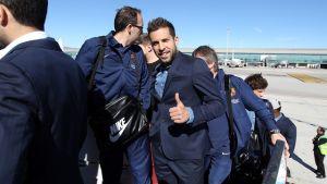 Piłkarze już w Madrycie
