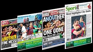 Brytyjska prasa na temat 'magicznego' Messiego