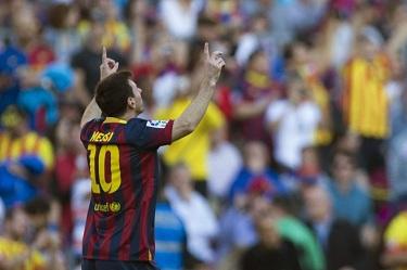 Messi najlepszym strzelcem FC Barcelony!