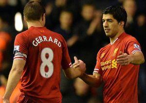 Gerrard: Luis Suárez jest bliski poziomu Messiego i Cristiano