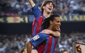 Ronaldinho, przyjaciel i fan numer jeden Lionela Messiego