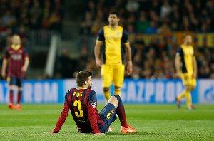 Piqué zdrowieje w pośpiechu, by zagrać w finale Copa del Rey