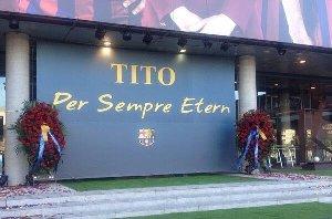 Miejsce składania hołdu Tito na Camp Nou