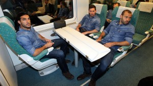 Pinto, Messi i Mascherano w pociągu