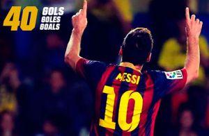 Messi zdobył 40 bramek w pięciu sezonach z rzędu
