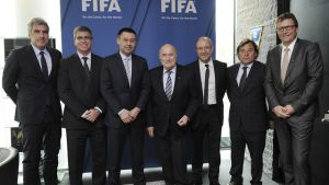 Spotkanie FIFY i FC Barcelony