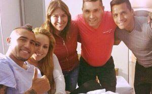 Alexis odwiedził Arturo Vidala