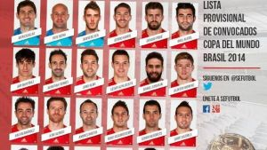 30-osobowa kadra Hiszpanii na Mundial