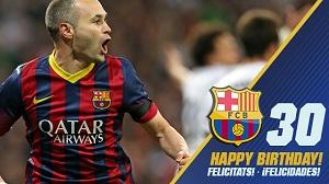 Felicidades, Iniesta!