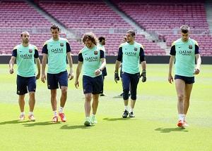 Ostatni trening przed finałem La Liga