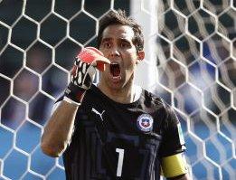 Claudio Bravo w bramce reprezentacji Chile