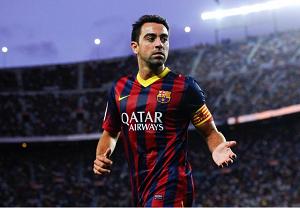 Xavi królem meczów Barçy