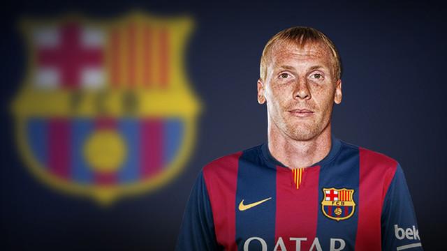 Jeremy Mathieu w koszulce Barcelony