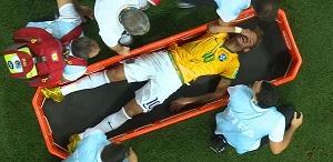 Uraz Neymara w meczu z Kolumbią