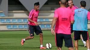 Xavi i Neymar trenowali z zespołem