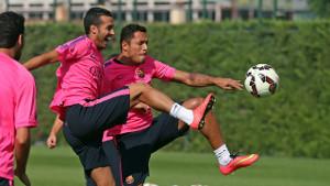 Pedro trenował z drużyną