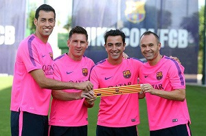 Czterech kapitanów Barçy 2014/15