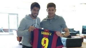 Suárez wręczył swoją koszulkę Gerrardowi
