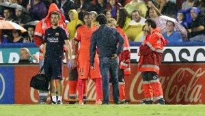Neymar i Rakitić trenowali z fizjoterapeutą